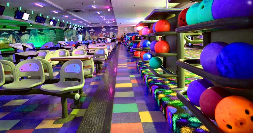 bowling lanes and balls